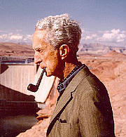 "Author photo. Norman Rockwell at Glen Canyon Dam (cropped)<br>Source: <a href=""http://www.usbr.gov/museumproperty/art/biorockw.html"">US Bureau of Reclamation Fine Art Collection</a>"