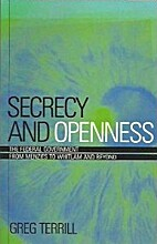 Secrecy and openness : the federal…