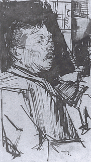 Author photo. Portrait of Jacobus van Looy by Isaäc Israëls (1865-1934)