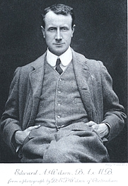 """Author photo. Source: Frontispiece in vol. 2 of """"Scott's Last Expedition ....""""  Dodd, Mead, and Co.,  New York (1913)"""