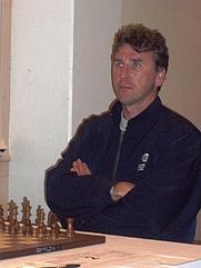 Author photo. Chess grandmaster Simen Agdestein at Arctic Chess Challenge, Tromsø august 2008