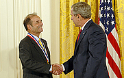 Author photo. Lubert Stryer receives the National Medal of Science (National Science Foundation)