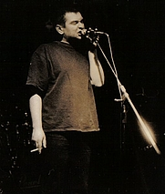 Author photo. concert in Nowa Sola, February 7, 1997