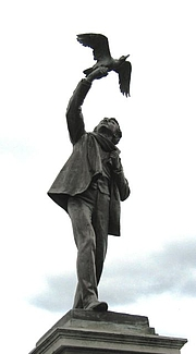 Author photo. Statue of Albrecht Rodenbach, Roeselare, Belgium.  Photo by user Paul Hermans / Wikimedia Commons.