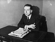 Author photo. English: French writer René Laporte in 1936, when receiving the Prix Interallié