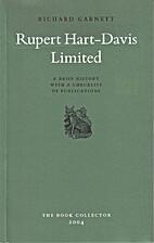 Rupert Hart-Davis Limited : a brief history…