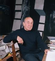 Author photo. Feliks Topolski in 1973 [credit: Allan Warren]