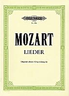 Mozart - Lieder by WA Mozart