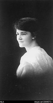 """Author photo. Portrait of author Flora Syndey Eldershaw (1897-1956) [picture] [ca. 1915]<br><a href=""""http://www.nla.gov.au"""">National Library of Australia</a>, nla.pic-an12004673"""