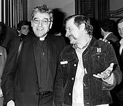 Author photo. Le Cardinal Jean-Marie Lustiger et Lech Walesa