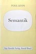 Semantik by Poul Levin