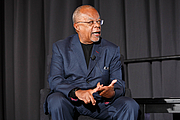 Author photo. Henry Louis Gates Jr. speaks on a panel about race in America on the Understanding Our World Stage at the National Book Festival, August 31, 2019. Photo by Shawn Miller/Library of Congress.