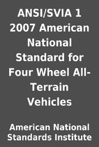 ANSI/SVIA 1 2007 American National Standard…