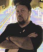 Author photo. Self portrait for promotional purposes taken at San Diego ComiCon 2008.