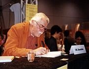 Author photo. F. W. Bernstein, German writer and caricaturist. Picture taken at the Frankfurt Bookfair in 2005.