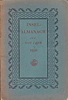 Insel-Almanach auf das Jahr 1921 by Anton…