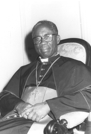 Author photo. Francis Cardinal Arinze, 1985.  Image © Agenzia Fides.