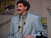 Author photo. Sacha Baron Cohen appearing as Borat <br> Credit: Kevin Tostado, 2006, San Diego, Calif.