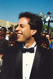 Author photo. Jerry Seinfeld (1954-    ) Photo by Alan Light, 44th Emmy Awards, August 1992 (Flickr attribution license)