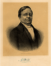Author photo. Lithography by A.J. Ehnle/P. Blommers (1853). Source: Digitale Biblotheek der Nederlands letteren.