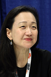 """Author photo. Min Jin Lee at the 2018 U.S. National Book Festival By Fuzheado - Own work, CC BY-SA 4.0, <a href=""""https://commons.wikimedia.org/w/index.php?curid=72309976"""" rel=""""nofollow"""" target=""""_top"""">https://commons.wikimedia.org/w/index.php?curid=72309976</a>"""
