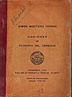 Nociones de filosofía del derecho by Simon…