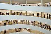 Author photo. Interior of the Solomon R. Guggenheim Museum on a busy day [credit: Wallygva at en.wikipedia]