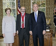 Author photo. Alan C. Kors, receiving the National Humanities Medal, 2005. White House photo by Eric Draper.