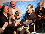 Author photo. Akbar Ganji (Right) ~ Photo by Mansour Nasiri (Wikipedia)
