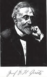 Author photo. Heinrich Graetz. Frontispiece from History of the Jews (1891).
