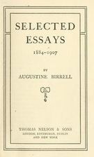Selected Essays 1884-1907 by Augustine…