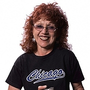 """Author photo. Uncredited image from <a href=""""http://www.lewallencontemporary.com/judychicago"""" rel=""""nofollow"""" target=""""_top"""">Lew Allen Galleries website</a>"""