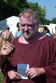 Author photo. Dr. Marcus Junkelmann in Carnuntum/Bad Deutsch-Altenburg, August 2010 (photographed by jcbrunner).