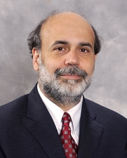 Author photo. Ben Shalom Bernanke, <br>Howard Harrison and Gabrielle Snyder Beck<br>Professor  of Economics and Public Affairs, <br>Woodrow Wilson School, Princeton University.<br> Source: Federal Reserve, 2003<br>(photo courtesy of Princeton University)