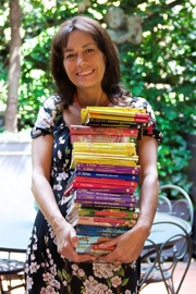 """Author photo. Dami with a few Geronimo Stilton books By Andrea Costa - Creative Director - Own work, CC BY-SA 4.0, <a href=""""//commons.wikimedia.org/w/index.php?curid=63310965"""" rel=""""nofollow"""" target=""""_top"""">https://commons.wikimedia.org/w/index.php?curid=63310965</a>"""