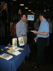 Author photo. Michael Shuman (on left).  Chris Johnson , October 19, 2006