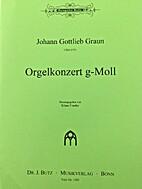Orgelkonzert in g by Johann Gottlieb Graun