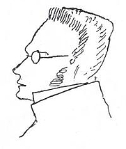 Author photo. Max Stirner (1806-1856) portraited by Friedrich Engels (1820–1895), made circa 1892.