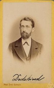 Author photo. Emil Schulz (from an album donated to the Mathematischen Gesellschaft, Hamburg)