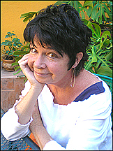 Author photo. Linda in her San Miguel de Allende garden