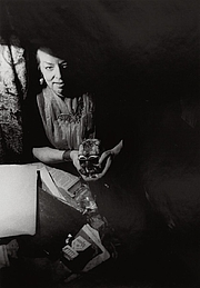 Author photo. Late photograph of Rosaleen Norton with skull. Owned by National Portrait Gallery, Australia.