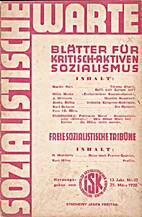 Sozialistische Warte. 13. Jahr. Nr. 12. 25.…