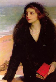 "Author photo. ""Ursula Bloom on the Promenade at Walton-on-the-Naze"" (1932) by Charles A. Buchel (1892-1984)."