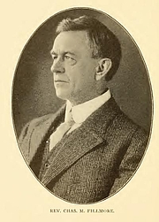 Author photo. Charles M. Fillmore. Portrait from page 284 of Biography of Gospel song and hymn writers (1914) by Jacob Henry Hall