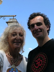 Author photo. Margo Anand, on left. Pierre LASSALLE