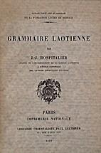 Grammaire laotienne by Julien Joseph…