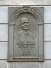 Author photo. Mordechai Gebirtig commemorative plaque, 5 Berka Joselewicza Street - once Gebirtig's home, Kraków, Poland