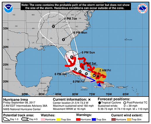 Trump and Irma (or: Worst Nightmares for Florida et al