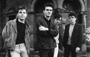 Author photo. The Smiths in 1985. Left to right: Andy Rourke, Morrissey, Johnny Marr, Mike Joyce