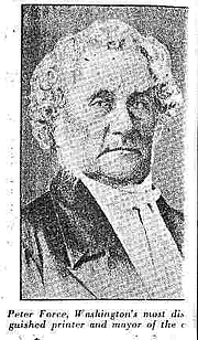 "Author photo. Peter Force in the photograph accompanying his obituary, 1868 By not stated - 19th century newspaper, Public Domain, <a href=""https://commons.wikimedia.org/w/index.php?curid=25974366"" rel=""nofollow"" target=""_top"">https://commons.wikimedia.org/w/index.php?curid=25974366</a>"